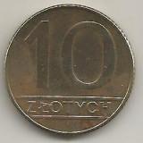POLONIA  10  ZLOTI   ZLOTYCH  1989   [1]    livrare in cartonas, Europa, Alama