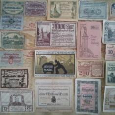 Lot 20 notgelduri Austria și Germania, 10 lei / notgeldul, taxe poștale gratuite, Europa