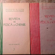 Revista De Fizica Si Chimie, nr 3/1987 si 6/1988 - Culegere Fizica