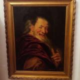 Tablou, ulei pe panza -Democrit - Tablou autor neidentificat, Portrete, Altul