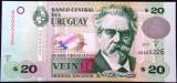Bancnota 20 Pesos Uruguayos - URUGUAY, anul 2011 *cod 617 --- UNC + SERIE MICA!
