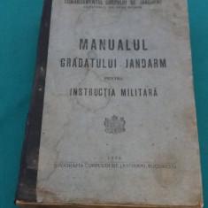 MANUALUL GRADATULUI JANDARM PENTRU INSTRUCȚIA MILITARĂ/1928 - Carte veche