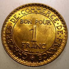 A.300 FRANTA 1 FRANC 1923 XF/AUNC, Europa, Bronz-Aluminiu