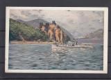VEDERE CU VAPOR   DE LA  CAZANE  BANAT, Necirculata, Printata