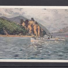 VEDERE CU VAPOR DE LA CAZANE BANAT - Carte Postala Banat 1904-1918, Necirculata, Printata