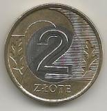 POLONIA  2  ZLOTI  ZLOTE  1995  [1]   XF++ ,  livrare  in  cartonas, Europa, Bronz-Aluminiu