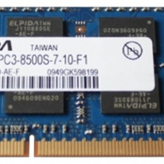 Memorii Laptop SODIMM Elpida 2GB DDR3 PC3-8500S 1066Mhz, 2 GB, 1066 mhz