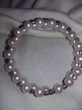 Bratara dama cu perle si pietre,bratara veche frumoasa,bratara vintage T.GRATUIT