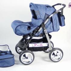 Carucior 2 in 1 Vip 82 (Albastru Jeans) Kerttu - Carucior copii 2 in 1
