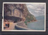 VEDERE CU PANOUL MEMORIAL DE LA  CAZANE  BANAT, Necirculata, Printata