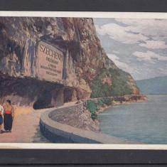 VEDERE CU PANOUL MEMORIAL DE LA CAZANE BANAT - Carte Postala Banat 1904-1918, Necirculata, Printata
