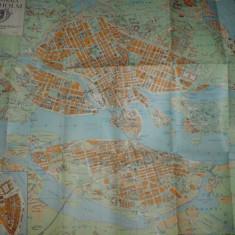 Suedia:  planul orasului Stockholm anul 1947, color