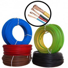 Conductor MYF 1.5 mm - 100M - Cablu curent cupru litat - H07V-K - Cablu si prelungitor