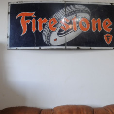 Firestone reclama veche  metal  portelanat  Old Firestone Sign
