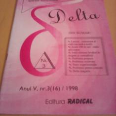 REVISTA DE FIZICA SI CHIMIE DELTA PENTRU GIMNAZIU NR.3 1998 - Revista scolara