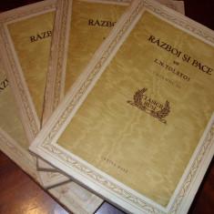 L. N. TOLSTOI - RAZBOI SI PACE ( 4 vol, editie de colectie, cu ilustratii )