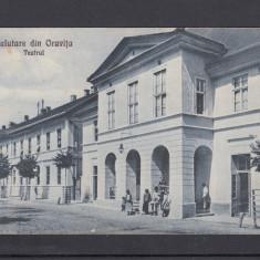 SALUTARE DIN ORAVITA TEATRUL - Carte Postala Banat dupa 1918, Necirculata, Printata