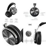 Casti Bluedio T4 Bluetooth 4.2, microfon, Active NoiseCancellation, USB C, Negru