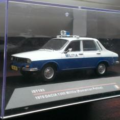 Macheta Dacia 1300 Militia 1970 - IST 1/43 - Macheta auto