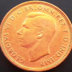 Moneda istorica Half Penny - ANGLIA, anul 1945 *cod 4806 --- GEORGIVS VI, Europa