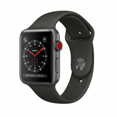 Apple Watch 3 Cellular + Gps, Aluminiu, 42mm, Gri