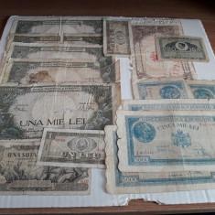 ROMANIA - Lot 1 - 15 bancnote inflatie + comuniste 100 lei 1947, 1966, 1945 - Bancnota romaneasca, An: 1906