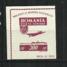 ROMANIA 1946 - ORGANIZATIA SPORTULUI POPULAR - COLITA, MNH - LP. 201