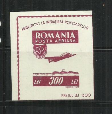 ROMANIA 1946 - ORGANIZATIA SPORTULUI POPULAR - COLITA, MNH - LP. 201 foto