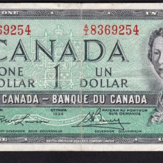 Canada 1 Dollar 1954 P#66 - bancnota america