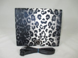 Geanta/plic dama neagra animal print+CADOU, Medie