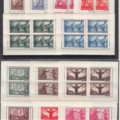 ROMANIA 1945 LP178a APARAREA PATRIOTICA-VICTORIA HARTIE ALBA BLOCURI 4 TIMBRE - Timbre Romania, Nestampilat