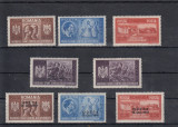 ROMANIA  1941  LP 146 I  LP 146 II  FRATIA  DE  ARME  ROMANO-GERMANA  SERII  MNH, Nestampilat