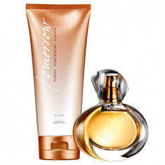 Apa de parfum Tomorrow 50 ml + gel de dus AVON - Parfum femeie Avon, Apa de toaleta, Lemnos