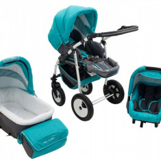 Carucior 3 in 1 Futuro Turquoise MyKids - Carucior copii 3 in 1