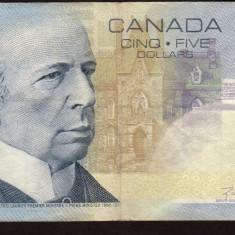Canada 5 Dollars 2002 P#101 - bancnota america