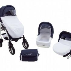 Carucior 3 in 1 Futuro Albastru Inchis Alb MyKids - Carucior copii 3 in 1