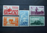 Romania 1946 - REFORMA AGRARA, serie si colita nestampilata, SA9, Nestampilat