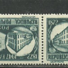Romania 1948 - FABRICA DE TIMBRE, 7.5 lei PERECHE TETE-BECHE, SA10 - Timbre Romania, Nestampilat