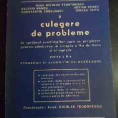 Culegere De Probleme In Sprijinul Candidatilor Care Se Pregat - Nicolae Teodorescu Valeriu Mangu Adrian Negru Cons, 540504 - Carte Matematica