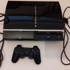 Consola PS3 FAT HDD 600 GB - Ruleaza jocuri PS1 PS2 PS3 (001) - PlayStation 3 Sony