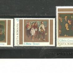 Romania 1983 - PICTURA CORNELIU BABA, serie nestampilata, SA1 - Timbru Romania dupa 1900