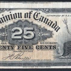 Canada 25 Cents [2] 1900 - bancnota america