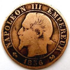 FRANTA, NAPOLEON III, 5 CENTIMES 1856, MONETARIA PARIS !!!, Europa, Cupru (arama)