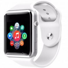 Ceas Smartwatch cu Telefon iUni A100i, BT, LCD 1.54 Inch, Camera, Alb + Spinner Titirez Cadou