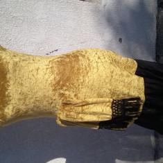 Rochie elegantă de seară catifea sexy - Rochie de seara Dolce Gabanna, Marime: 36, Culoare: Galben
