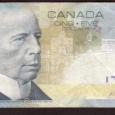 Canada 5 Dollars 2006 - bancnota america