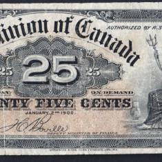 Canada 25 Cents [1] 1900 - bancnota america