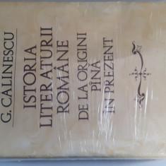 Istoria Literaturii Romane de la origini pana in prezent - George Calinescu - Studiu literar