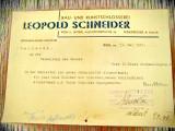 Act vechi-Rechnung Leopold Schneider SchlosserMeister Wien 1947.