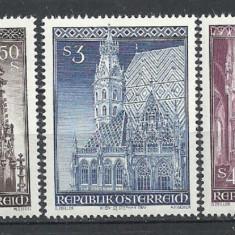 AUSTRIA 1977 – IMAGINI CATEDRALA, serie nestampilata, SA22 - Timbre straine